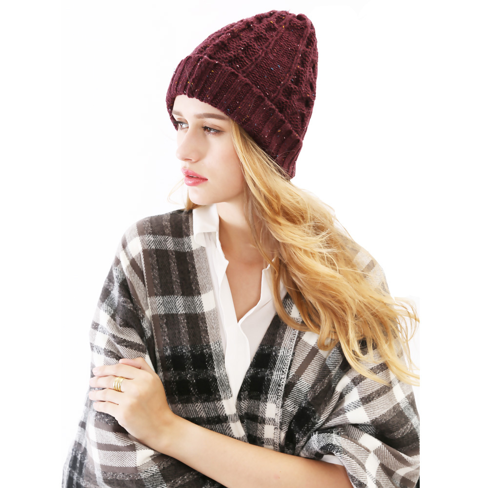 4 Colors 2015 New Knitted Touca Gorros with Paisley Colorful Ideas Yarn Fall Winter Men Women Headgear Skullies Beanie Hat(China (Mainland))
