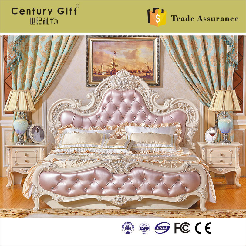 european-style solid wood pine marital bed carve patterns or designs on woodwork French high box storage double bed(China (Mainland))