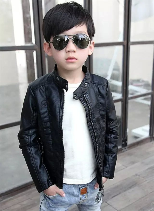 Hot sale 2015 Autumn/Winter Children kids girls boys Brand fashion Solid Leather Outerwear &amp; Coats,Leather Jackets<br><br>Aliexpress