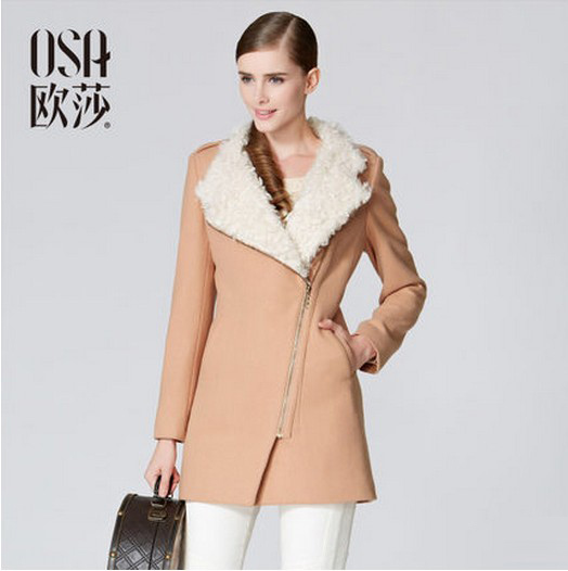 OSA 2014 New Winter Stylish Warm Outerwear Padded Jacket Solid Color Elegant Minimalist Coat Women Winter Jacket  SM31065