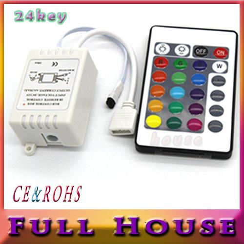 1PCS DC 12V 3*2 A 24 Keys LED Controller IR Remote controller+GRB Port for RGB LED Strip Light 24 Key RGB Remote free shipping(China (Mainland))