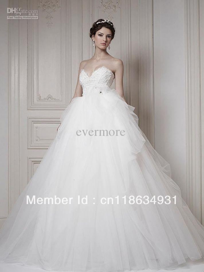 Best Selling Tulle Bridal Gown Sweetheart Empire Waist