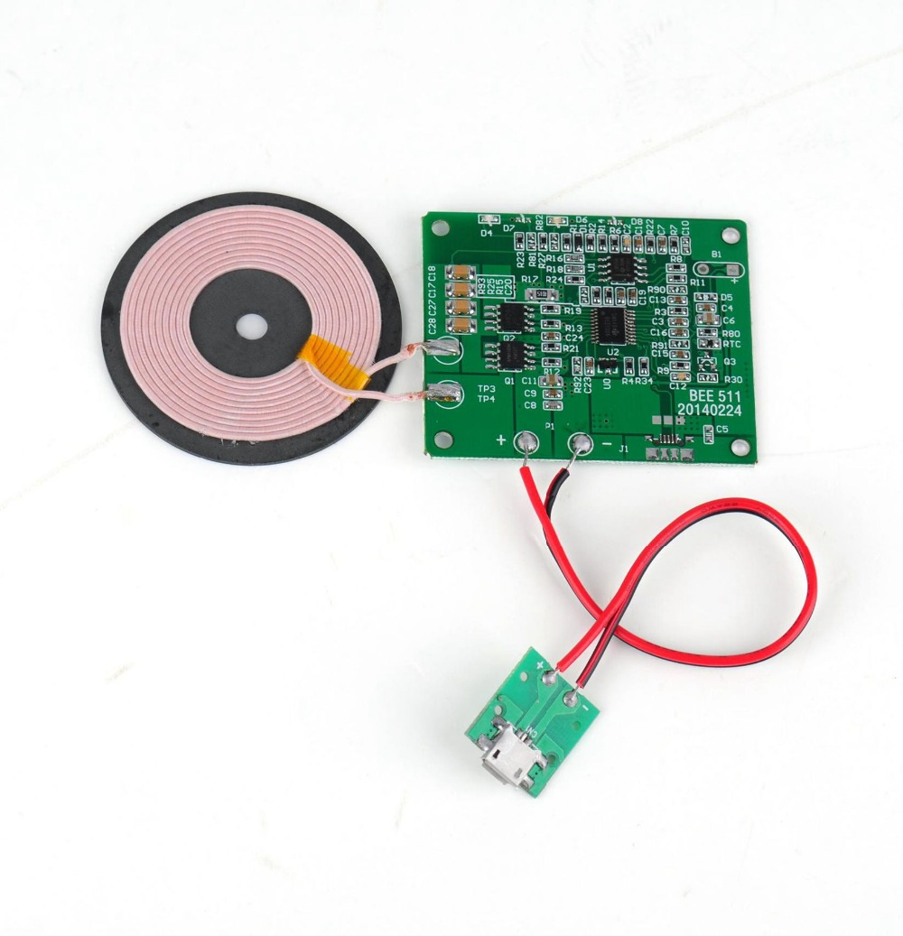 QI wireless charger PCBA sample wireless charging Circuit board with Qi-Standard Coil DIY wireless charger accessory(China (Mainland))