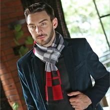 2015 Classic Plaid Scarf Men British Style Autumn Winter Long Scarves Gradient  Muffler Stylish Scarf(China (Mainland))