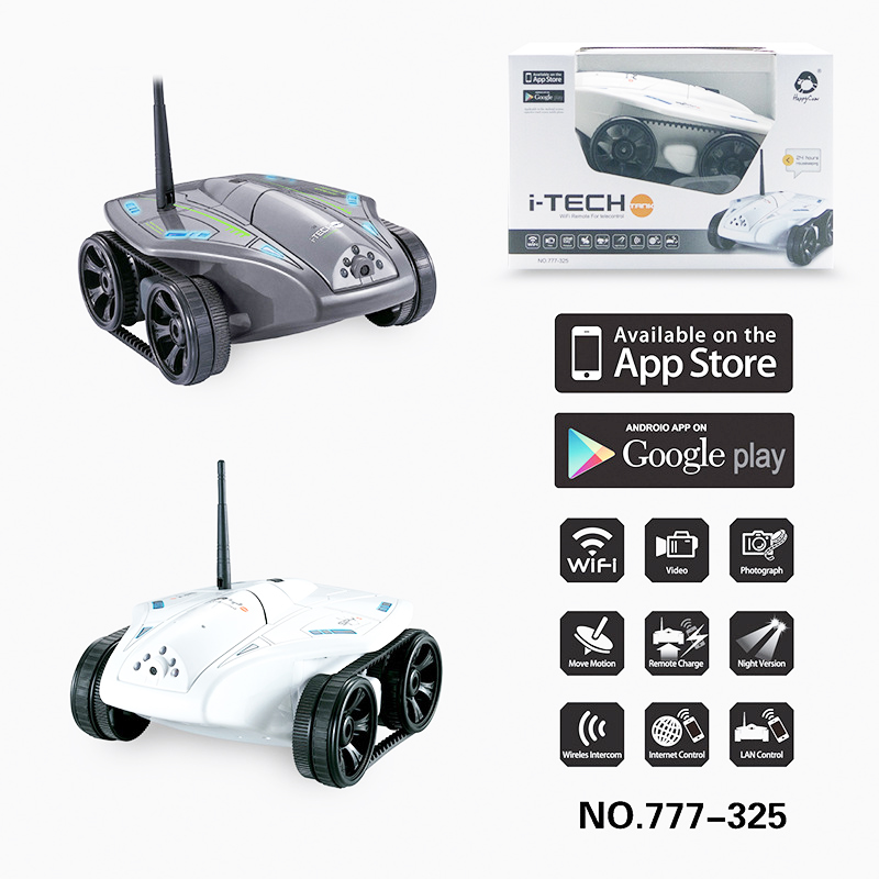 Newest Hot Real Time WIFI FPV Remote Control Model Tank Car Toy with 0.3MP to 1.0 MP HD Camera Kids Toys birthday Gifts(China (Mainland))