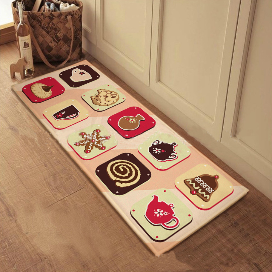 Carpet Zakka Cartoon Mats Kitchen Mat Bath Rugs Bedroom