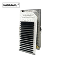NAGARAKU 16rows case 7 15mm mix in one tray synthetic mink natural mink individual eyelash extension