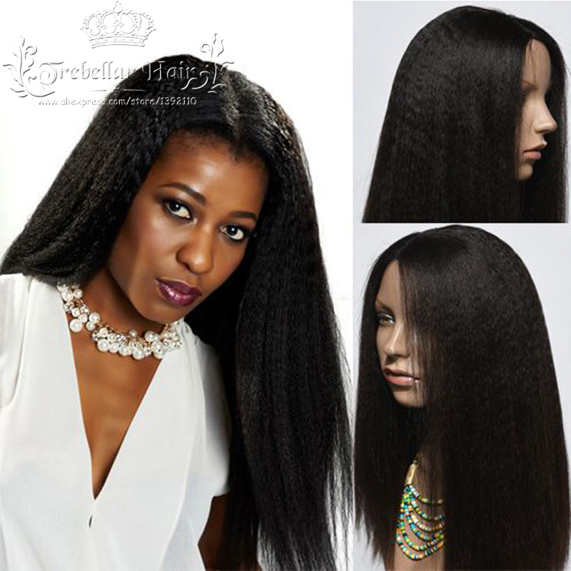 Brazilian Hair Lace Front Wig Beyonce Human Hair Full Lace Wig 150 Density Kinky Straight Wig Full Lace Human Hair Wig For Women(China (Mainland))