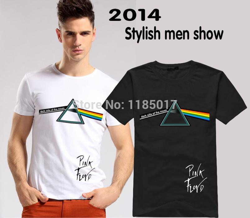 New Arrival Rock Band Pink Floyd Men T Shirt Dark Side Of The Moon Skateboards Flash Vintage Male Hip Hop t-shirts(China (Mainland))