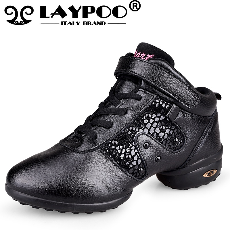 Black Sequin Hip Hop Shoes