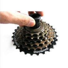 Black Bicycle Cassette Sprockets Repair Tools Bike Freewheel Flywheel Remover Repair Restore Tool