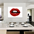 Red lips green sexy art picture hd canvas prints painting poster pop art decorative painting oil