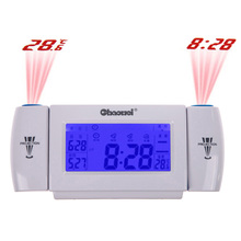 V1NF Digital LCD Snooze Dual Projection Alarm Clock Clapping Voice Controlled Free Shipping(China (Mainland))