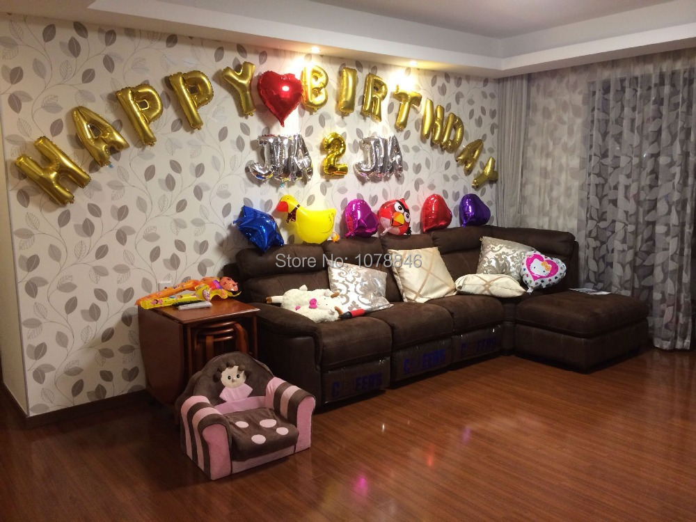 1pcs 16 cute silvergold alphabet letters helium balloons foil balloon birthday new