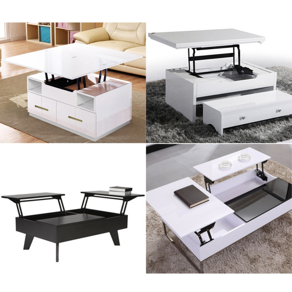 1Pair Lift Up Top Coffee Table Lifting Frame Mechanism Spring Hinge Hardware(China (Mainland))
