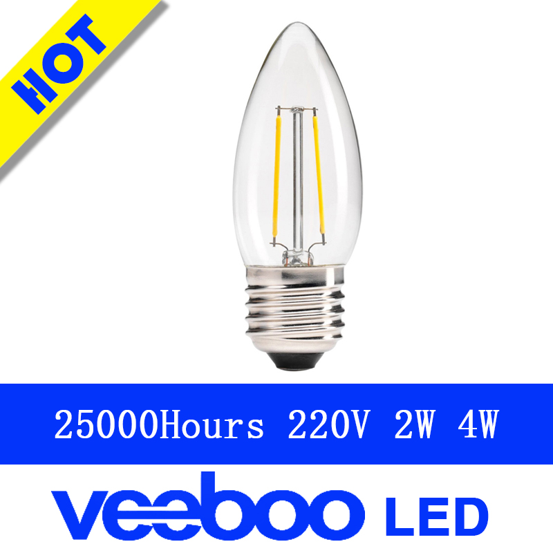 New Design 2W 4W B35 B10 E14 E12 LED Filament Candelabra bulb lamp 40W Equivalent Replace Incandescent Energy-Saving Dimmable(China (Mainland))