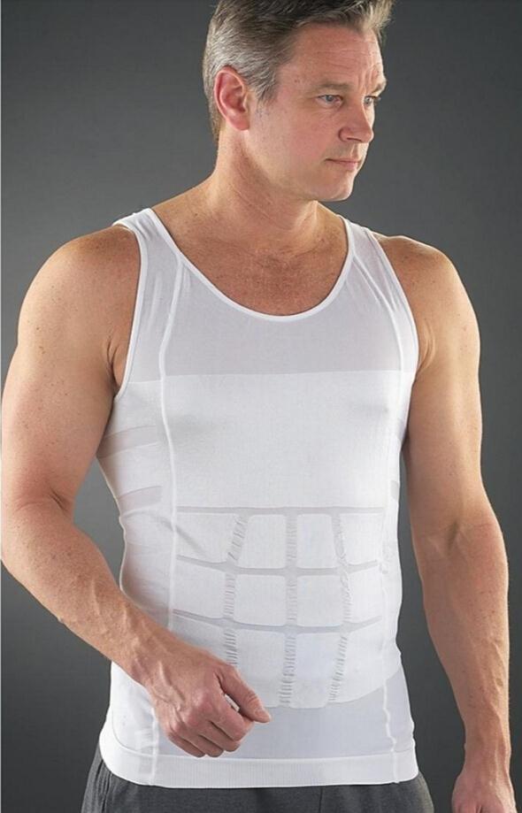 2016 Men s Slimming Body font b Shaper b font Belly Fatty Underwear Vest Shirt Corset
