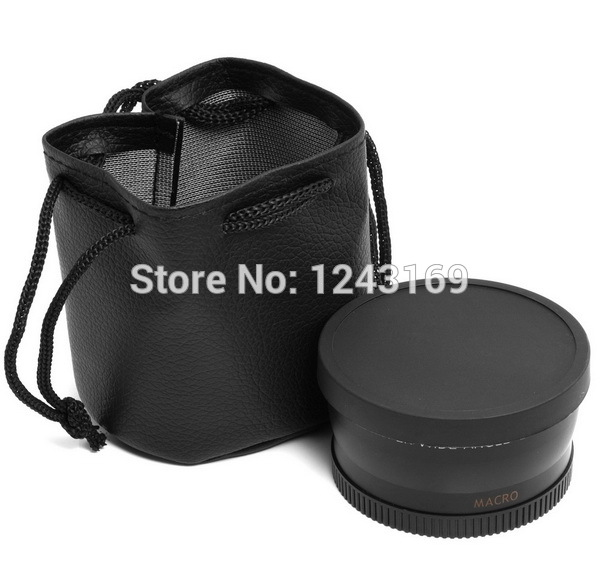 58mm 0.45x Wide Angle Macro Lens for DSLR Canon Rebel XS XSi XTi 600D 550D LF37(China (Mainland))
