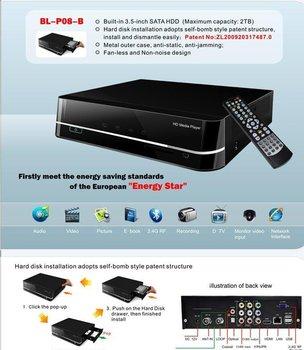 "DVB-T DMB 3.5"" SATA Full 1080P HD Media Player /Timer Recorder H.264/MKV/RM HDMI WIFI Youtube"