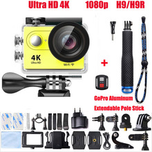 Buy Action video camera H9 H9R remote Ultra HD 4K WiFi 1080P 60fps 170D 2.0 LCD Pro go waterproof 30M sport camera for $56.95 in AliExpress store