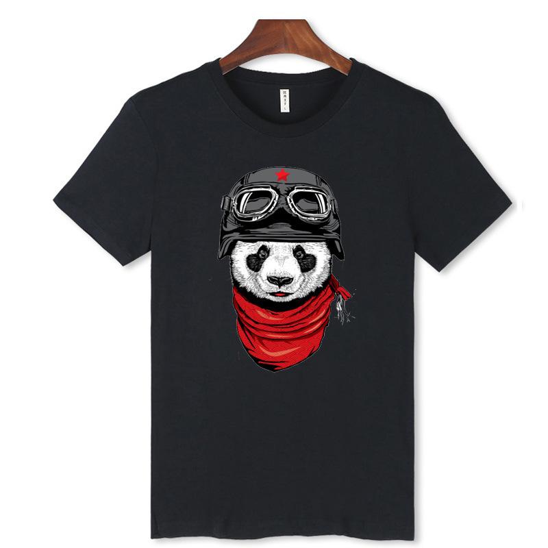 West coast of the Japanese popular logo original SuFeng retro cotton panda printing round collar shirt short sleeve T-shirt male(China (Mainland))