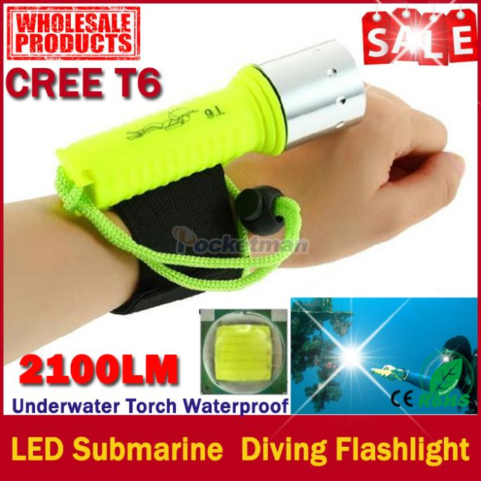 New 2400 lumens lantern CREE XML-T6 LED flashlight Waterproof underwater scuba Dive Diving Flashlight Torch light lamp for diver(China (Mainland))