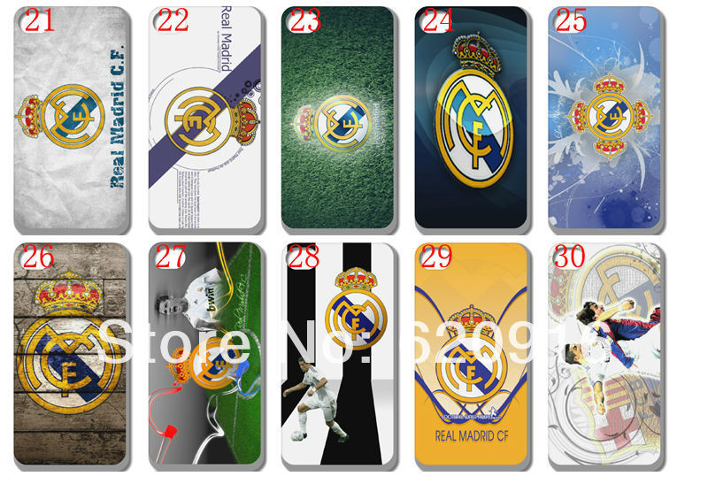 new skin design Real Madrid case hard back cover for iphone 4 4s 30PCS/lot+free shipping(China (Mainland))