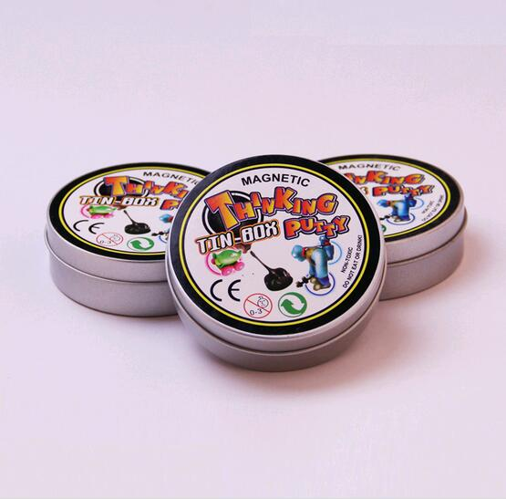 120g Malleable Fimo Magnetic rubber mud thinking putty creative toys Polymer Modeling Clay intelligent plasticine Kids Playdough(China (Mainland))