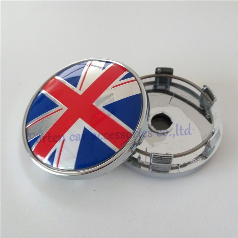4 pcs/set Car Blue Red UK Flag Wheel Hub Center Centre Caps For VW 60mm ABS Chrome Hubcaps Cover(China (Mainland))