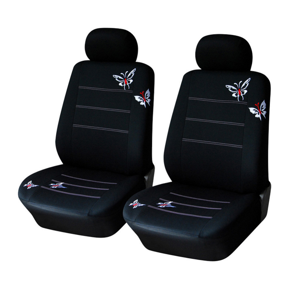Гаджет  AutoYouth Pair Bucket Butterfly Embroidered Fabric Car Seat Covers Universal Fit is Compatible with Most Vehicles Seat Car Cover None Автомобили и Мотоциклы