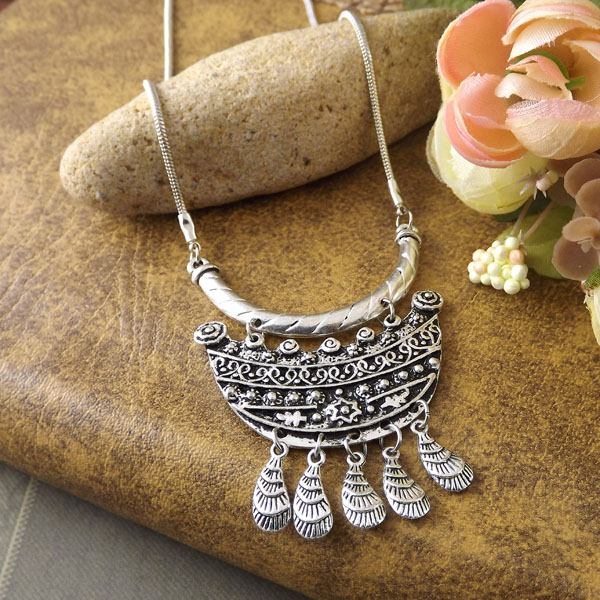 Factory Price New 2015 Spring Bohemia Sliver Plated Tibet Jewelry Vintage Handmade Long Chain Pendant Retro Necklace Women - Olaru Store store