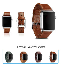 URVOI band for apple watch band/wrist/strap/belt classical genuine leather with stainless steel closure and connected adapter