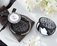 Wedding Favor wedding supplies wedding gift exquisite black and white mirror   100pcs/lot(China (Mainland))