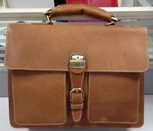 new MAD MEN GENUINE LEATHER briefcase Messenger shoulder tote bag 16 inch laptop computer bag business bag LF02128 5129(China (Mainland))