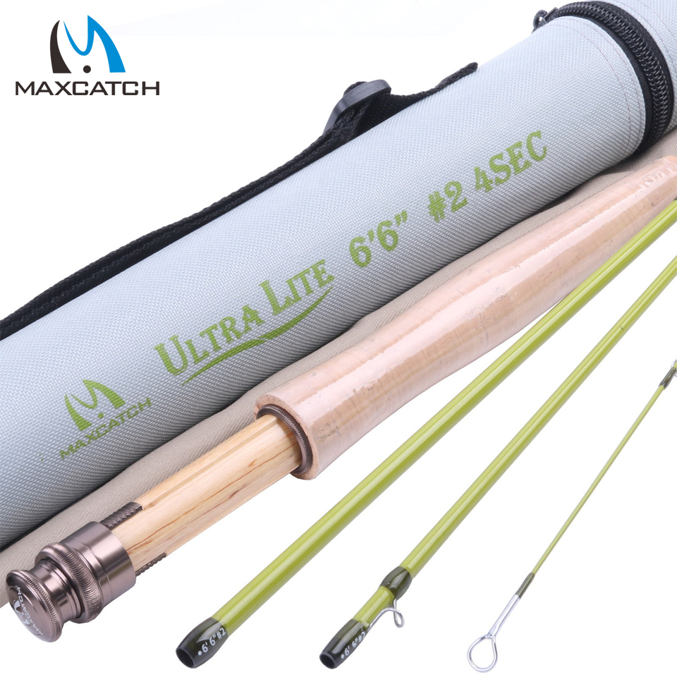 Maximumcatch Fly Rod 40T SK Carbon Fly Fishing Rod 6.6FT 2WT 4SEC Super Light Fast Action With Cordura Tube Fly Rod(China (Mainland))