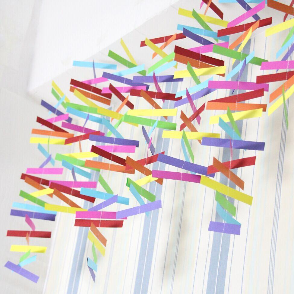 Rainbow Rectangle Garland, Baby Shower, Nursery! Playroom Photo Prop Banner(China (Mainland))