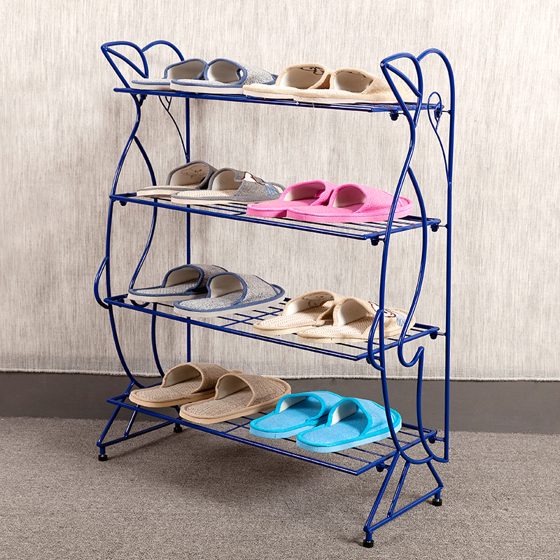 Simple dust shoe rack multilayer Cheap hostel slippers minimalist Continental Iron frame accommodating small<br><br>Aliexpress