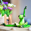 Ballet Frog Ornaments Resin Craft Dancing Resin Frog Unique Animal Creative Furnishing Novelty Home Decoration Frog