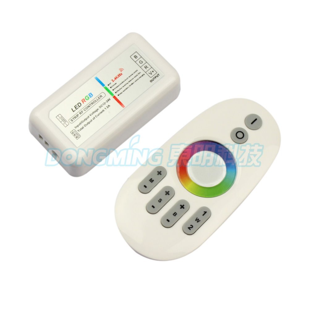 2.4G RGB LED controller Touch pannel 12V/24V 12A Wireless rgb remote controller 288Watt for LED RGB Strip,5pcs/lot free shipping(China (Mainland))