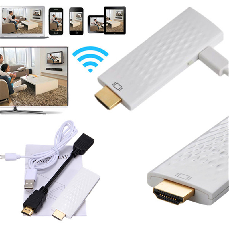 Universal Wireless WIFI Display Dongle Adapter HDMI Miracast DLNA AirPlay Converter Cables Set Pro for Android for iOS Phones(China (Mainland))