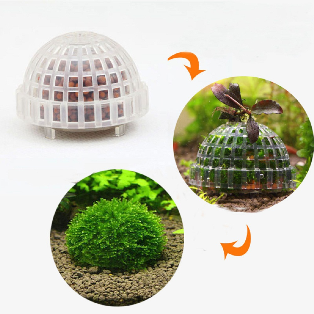 Aquarium Mineral Stone Suspended Float Moss Ball Fish Tank Aquascape Crystal Red Shrimp Live Plant Cultivation Holder House(China (Mainland))