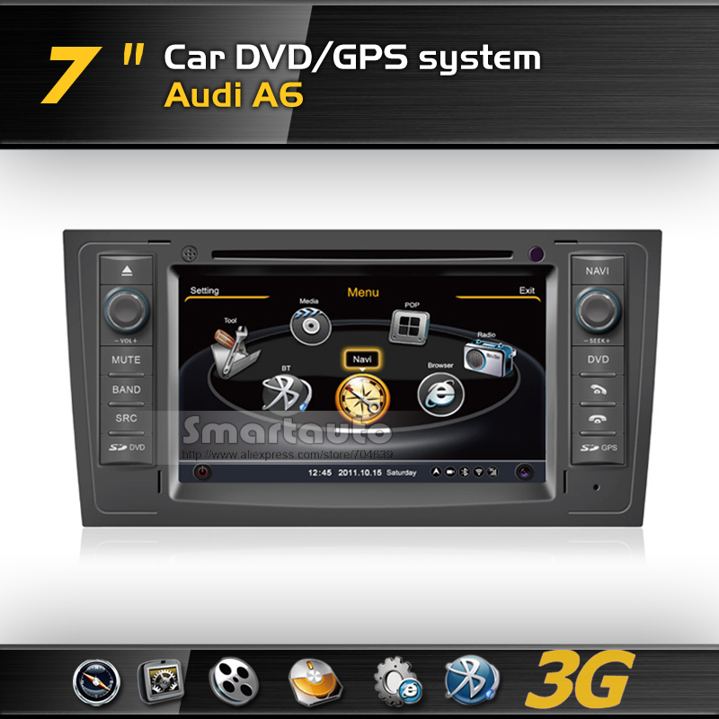 No need special tools new Frequency 1575.42MHZ C/A CODE,4G memory for Audi A6 3G A8 DVD GPS with iPod,Support Rearview Camera(China (Mainland))