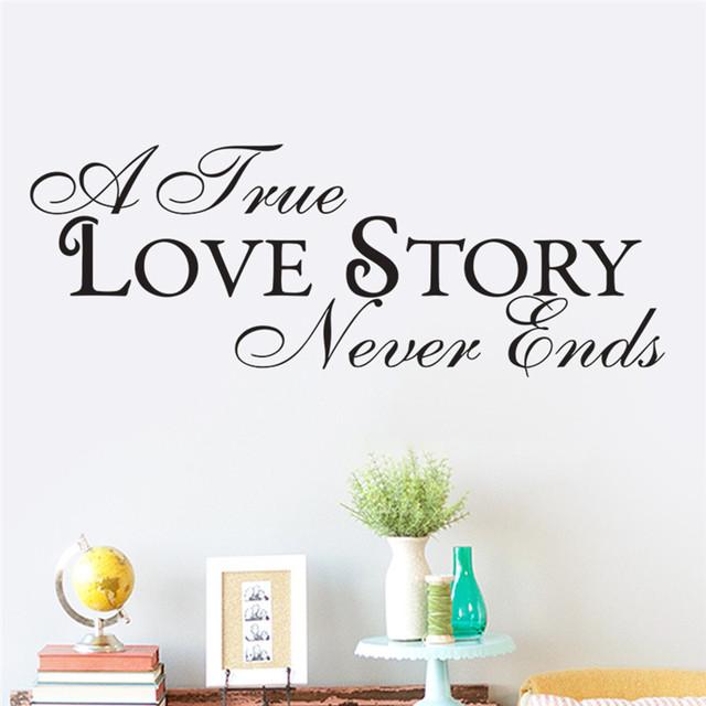 Новый цитата съемный на стены наклейка для спальни номеров история любви домашнего декора свадьбы украшение hot 8538 других стены искусства
