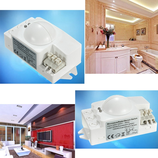 Lowest Price New Arrival Excellent Quality 360 500W Microwave Smart Motion Sensor Light Radar Switch Ceiling Recessed Wall(China (Mainland))