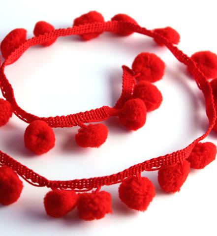 red-Pom-Pom-Trim-0-8cm-ball-diameter-2cm-wide-ball-laciness-pom-pom ...