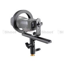 Metal Speedlite Flash Bracket Umbrella Holder+Universal Hot Shoe Mount Adapter for Bowens Lamp Shade Reflector Beauty Dish Snoot