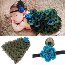 Peacock Style Baby Hat Cap with Daiper Photo props Christmas Birthday Costumes Feather Baby Headband Newborn Hat Cap Prop Outfit(China (Mainland))