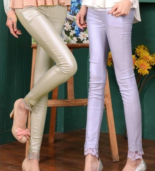 New Cheap price women's pants fashion faux leather good stretched casual pants wholesale and retail FREE SHIPPING(China (Mainland))