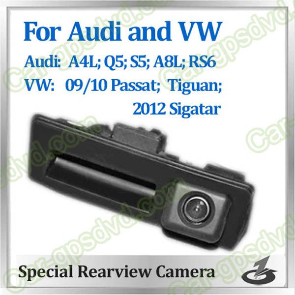 Free shipping! HD Rear View car reverse camera for AUDI A4L,A8L,S5, Q5,RS6,VW passat,gutian,Sigatar auto camera CCD night vision(China (Mainland))