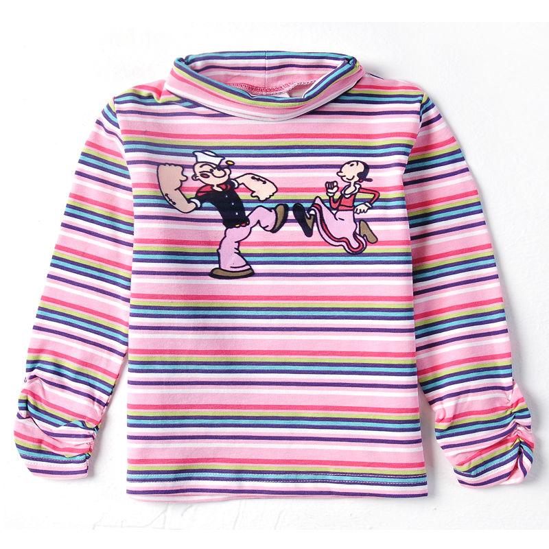 retail baby girls o-neck t-shirt long sleeve girls clothes children t shirts for girl nova kids t shirt children clothing